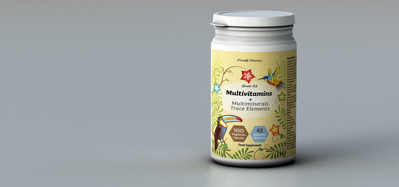 Verpackung Vitamindose Purelife-Vitamins