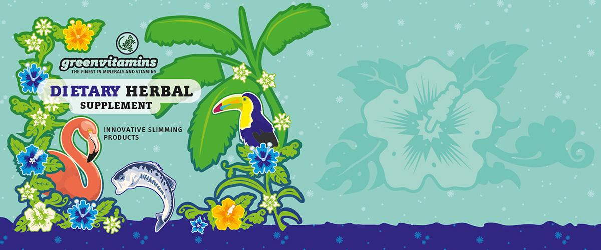 Greenvitamins Dietary Herbal Etikett